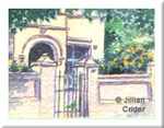 Heritage house architecture North Adelaide original watercolor painting garden miniature scale 1:12