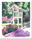 Original miniature watercolor painting dollhouse garden artistjillian