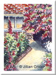 Tudor house garden original dollhouse miniature painting artistjillian
