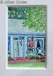 House porch Georgia original dollhouse miniature painting artistjillian